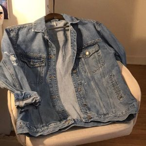Free people studded denim jacket